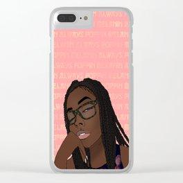 ~Melanin Always Poppin~ Clear iPhone Case