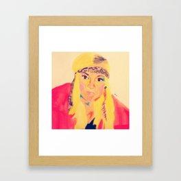 Hilary - #facesilove Framed Art Print