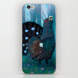 Capercaillie lek in spring iPhone Skin
