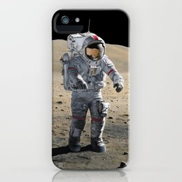 The Last Man on the Moon iPhone Case