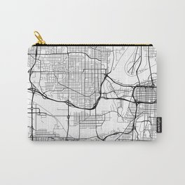 Kansas City Map, USA - Black and White  Carry-All Pouch
