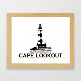 Cape Lookout - North Carolina. Framed Art Print