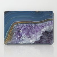 geode iPad Cases featuring Amethyst Geode Agate by CAROL HU
