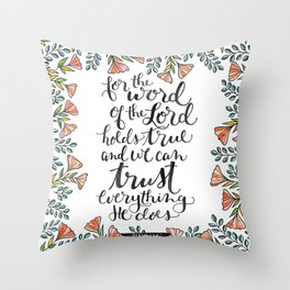 The Word of the Lord Throw Pillow