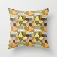 quilt Throw Pillows featuring quilt by notbook