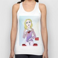 coca cola Tank Tops featuring Coca Cola by The Bravo Sisters Art