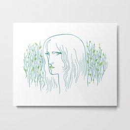 Woods Woman 1 Metal Print