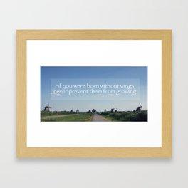 Kinderdijk Netherlands Travel Photography in Stock 6 x 10 Fine Art Photography Vintage Retro Framed Art Print