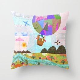 Balloon Ride Throw Pillow