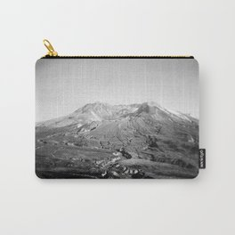 Mount St Helens Holga Black and white film photograph Carry-All Pouch