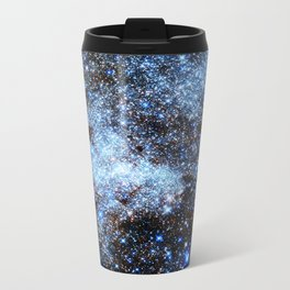 Blue gAlaxY Sparkle Stars Travel Mug