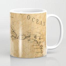 Old Nautical Map Carribeans Coffee Mug