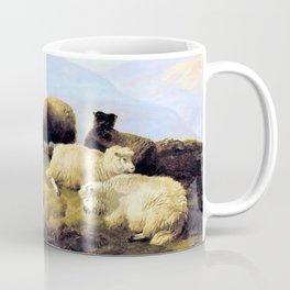 12,000pixel-500dpi - Thomas Sidney Cooper - Sheep resting in a Highland landscape Coffee Mug