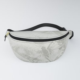 delicate butterflies and textured chevron pattern Fanny Pack