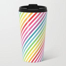 Rainbow Geometric Striped Pattern Travel Mug