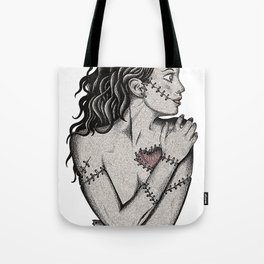 Her Heart Zombie Doll Tote Bag