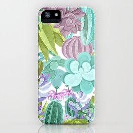 Tropical Cactus Pattern iPhone Case
