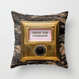 Champers Throw Pillow