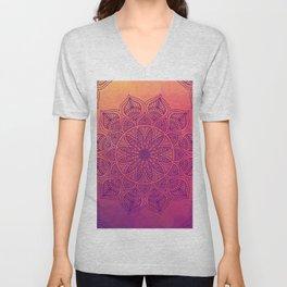 Happy Mandala Unisex V-Neck