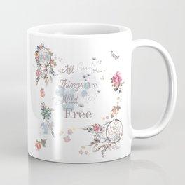 Boho stylish design. All good things are free and wild Coffee Mug
