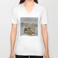 """helen V-neck T-shirts featuring """"Anyone seen Helen??"""" 2013 a.correia by correia creative"""