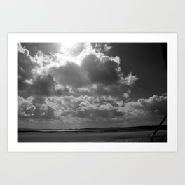 The sea was gone. So we filled the beach with clouds Art Print