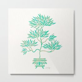 Bonsai Tree – Mint Palette Metal Print