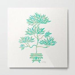 Bonsai Tree – Mint Palette Metal Print