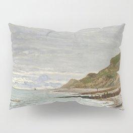 La Pointe de la Hève, Sainte-Adresse by Claude Monet Pillow Sham