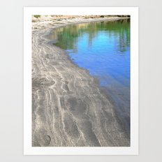 At The Edge Of The Water Art Print