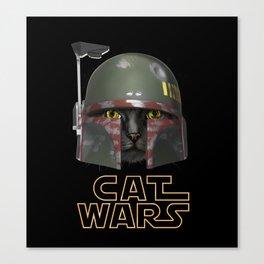 Boba Cat Wars Canvas Print