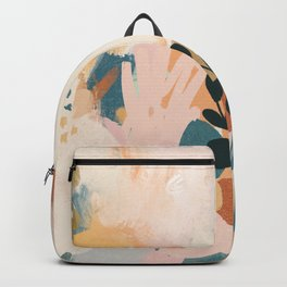 Abstract- Earthy Neutrals Backpack