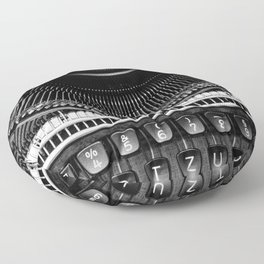 Typewriter Floor Pillow