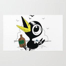 Drinky Crow! Rug