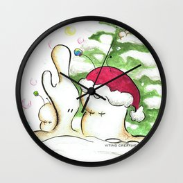 The Christmas Hat Wall Clock