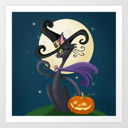 Halloween Night Magic Art Print