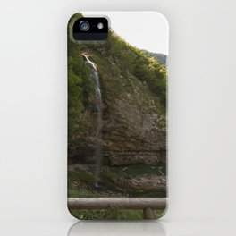 A small waterfall in the mountains #2 iPhone Case