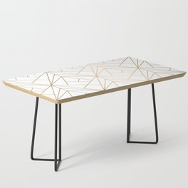 Geometric Gold Pattern With White Shimmer Coffee Table