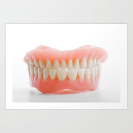 Medical denture smile jaws teeth Art Print