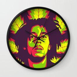 Bob Flower Wall Clock