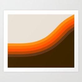 Golden Horizon Diptych - Right Side Art Print