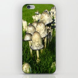 Mushrooms on grass iPhone Skin