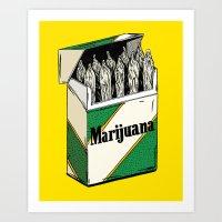 marijuana Art Prints featuring Mainstream Marijuana by Kelsey Dake