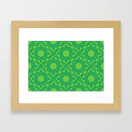 Shamrock Green ribbon Celtic knots Framed Art Print