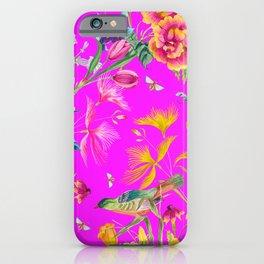 Bold Summer Print on Magenta Pink iPhone Case