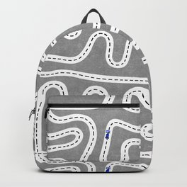 Grey Speed Racers Backpack