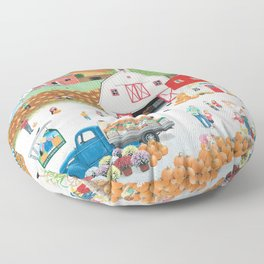 The Harvest Moon Floor Pillow