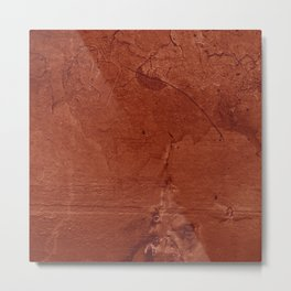 Red Clay and Concrete  Metal Print