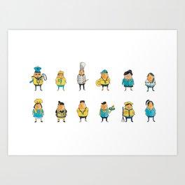 Wooferland: Wooferkers Pattern Art Print