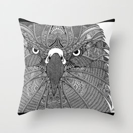 GinaMirandArt-Eagle Totem Throw Pillow